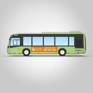 Autobús urbano con rotulación estándar